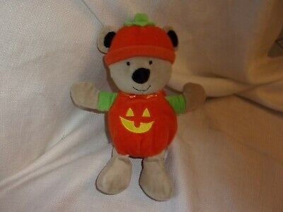 Halloween Toys For Babies (Carters Just One Plush Pumpkin Teddy Bear Baby Rattle Rattle Halloween Toy)