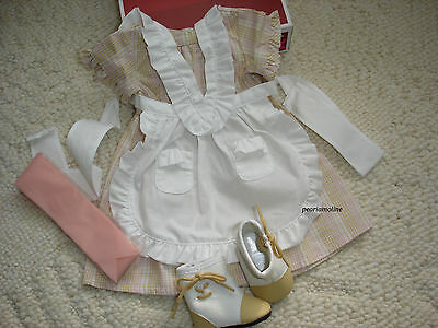 American Girl ADDY'S SUMMER PLAID OUTFIT SET ~Dress Pinafore Boots Ribbon NEW