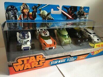 Mattel Star Wars Hot Wheels 1:64 Character Car 5 Pack