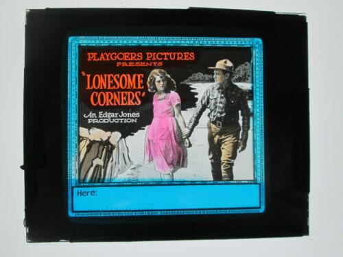 Lonesome Corners 1922 glass slide - Edgar Jones - free shipping