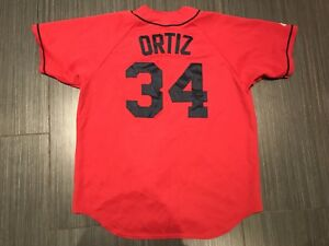 Majestic 6400 David Ortiz Boston Red Sox's Baseball Jersey