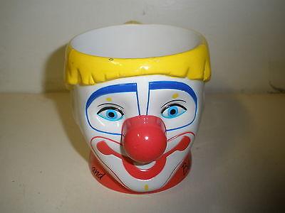 Vintage Ringling Bros and Barnum & Bailey Circus White CLOWN Plastic Mug Cup