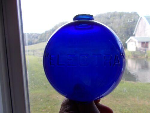 Vintage Electra Cobalt Blue Glass Lightning Rod Ball
