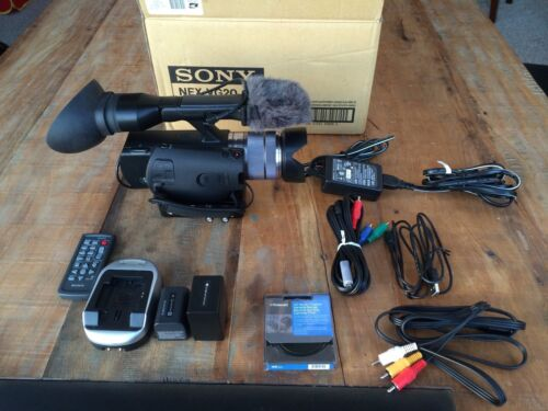 Sony NEX-VG20 HD Camcorder bundled w/XLR adapter, big battery, and ND filter