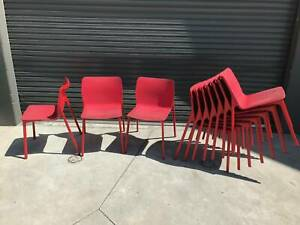 Red stackable chairs - Wilkhahn brand Braybrook Maribyrnong Area Preview