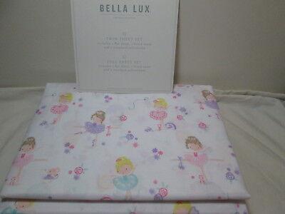 Luxe Girl Bedding Collection (Bella Lux Children Collection Twin Sheet Set BALLERINA DANCERS ~ Pink, Purple )