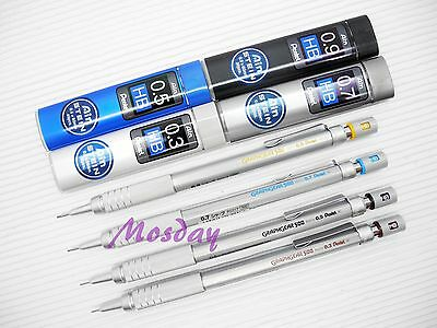 4 Size Set Pentel Graphgear 500 Mechanical Drafting Pencil 4 Boxes Lead