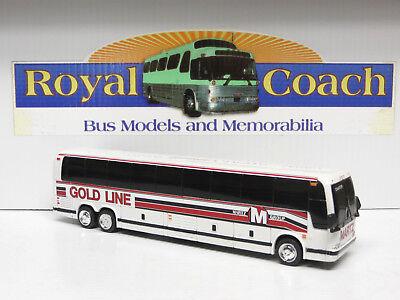 Gold Line  Dc   Martz Group  Plastic Prevost X 10  Bank Bus 1 50 Scale