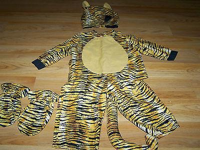 Handmade Size 12 Months Infant Tiger Cat Feline Halloween Costume 4 Piece - Handmade Baby Halloween Costumes