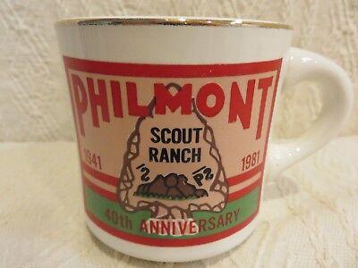 Vintage Philmont Scout Ranch Coffee Mug 40th Anniversary 1941-1981