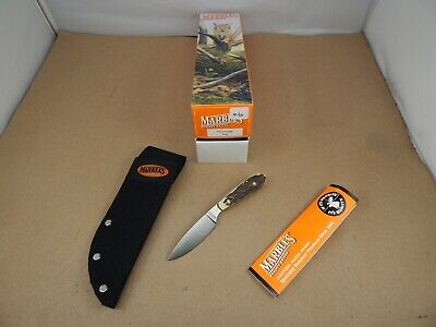 MARBLES USA 2001 Stag Antler CAPER Hunting Knife Mint in Box