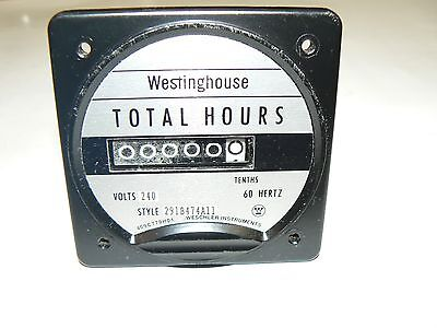 Westinghouse Electric Total Hours Meter 291b474a11 - 240 Volt
