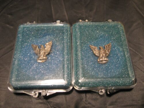 Vintage BSA Eagle Scout Mothers Mini STERLING Silver Award Pins Lot of 2