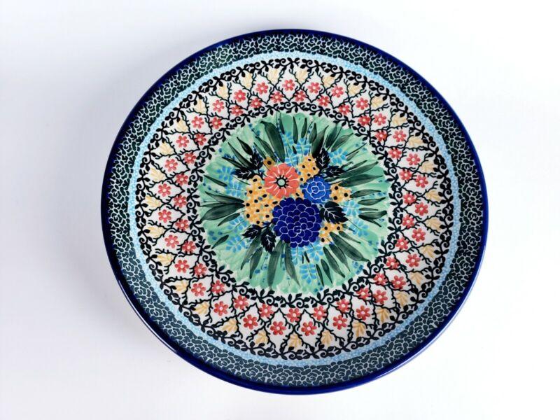 Unikat, Hand Made in Poland ~10.5 inch plate, Teresa Liana, 2210