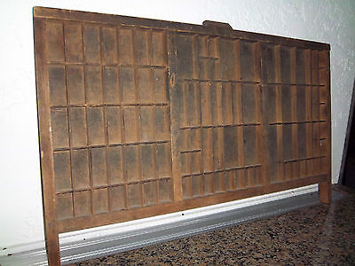 Printer Ink Drawer Antique Wooden TUBBS MFG Co Ludington Mich Wood Wall Shelf