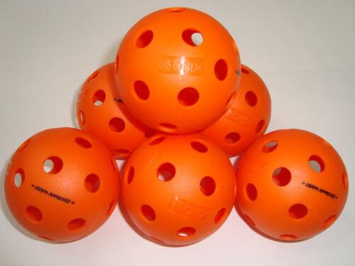 6 Onix Fuse Indoor Pickleballs Balls  Tournament Meet USAPA Pack of 6 Orange
