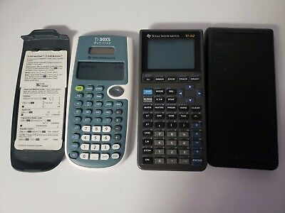 Lot Of 2 Texas instruments Calculators Ti 30x Ti 82 Graphing