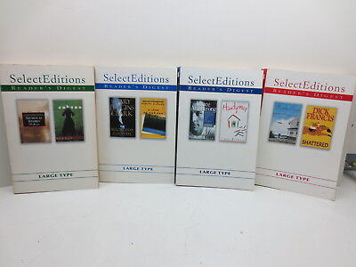 Lot Of 4 Readers Digest 01 02 Select Editions Large Print Type Soft Cover Books