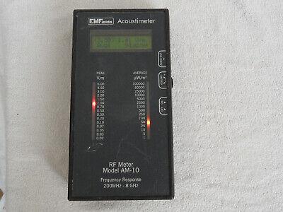 Emfields Acoustimeter Rf Meter Model Am-10 -read-