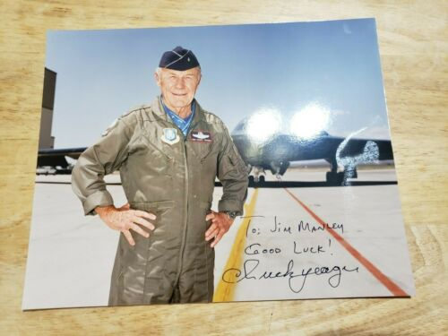 Chuck Yeager signed photo