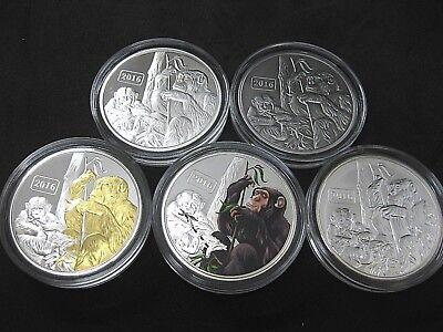 Tokelau Jahr des affen 2016 Proof Silber Silver PP Limitiert 5 OZ Münze  ()