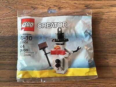 LEGO CREATOR CHRISTMAS XMAS HOLIDAY SNOWMAN 30008 NEW IN POLYBAG 44 PCS SNOW MAN