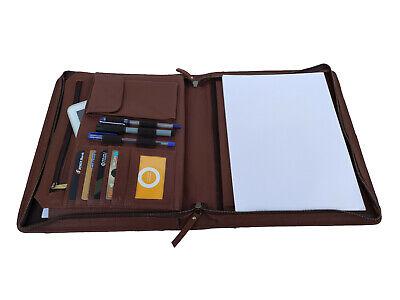 Zippered Portfolio A4 Organizer Padfolio Business Folder Exe