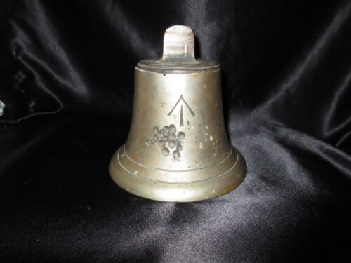 Vintage Brass British Ship Bell & Wide Arrow Military Nautical WW1 WW2 Never Use