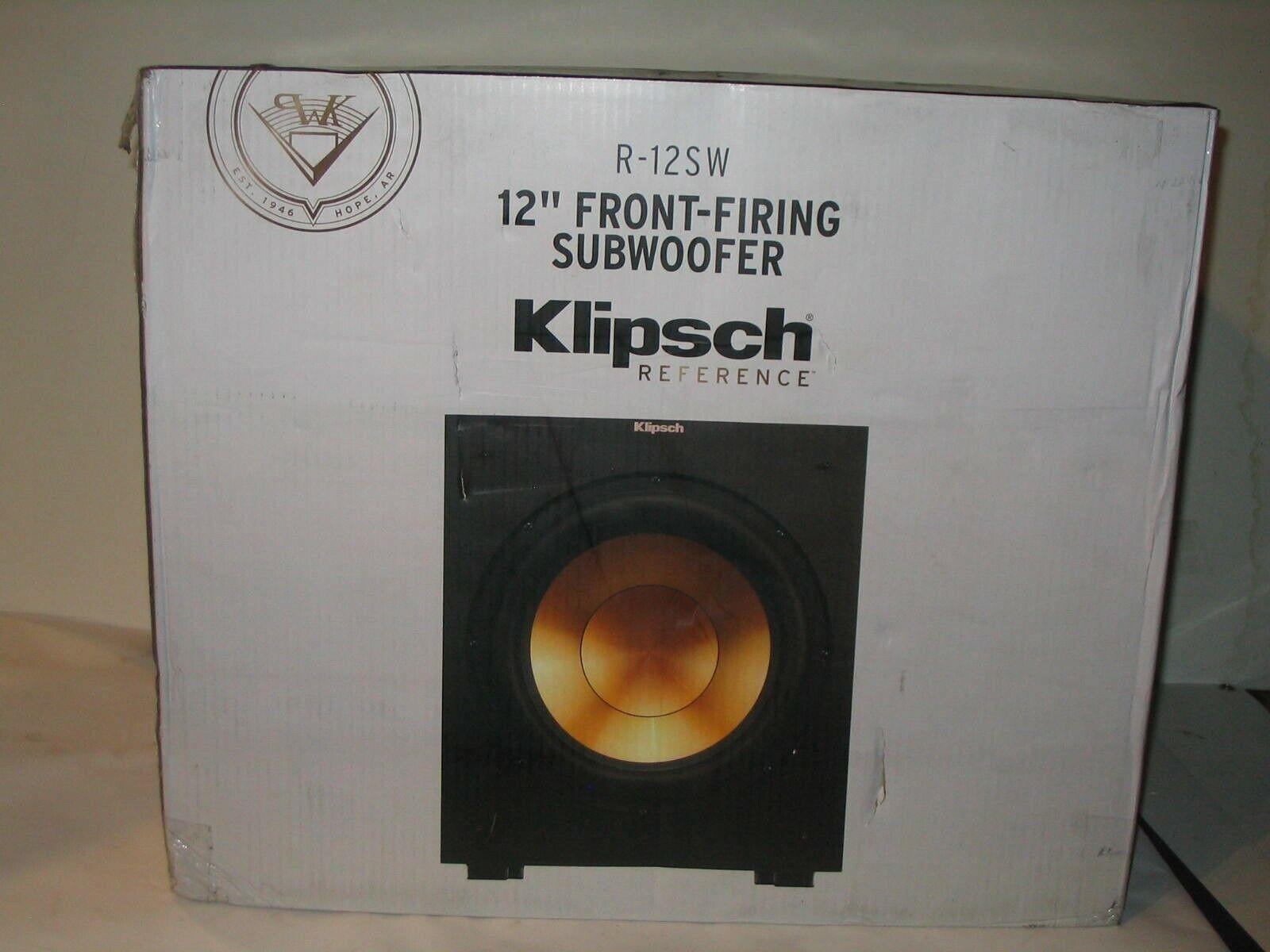 NEW Klipsch R-12SW 12-Inch Front Firing 400-Watt Max Powered