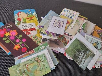 XL lot 3+lbs  Vintage greeting cards 60's 70's crafts scrapbooking Paper Art
