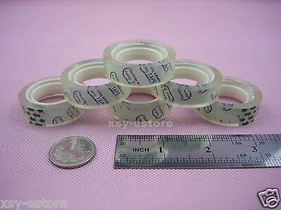 12 Rolls Transparent Adhesive Tape Office Stationery Tape 12mm X 15yard1 Core