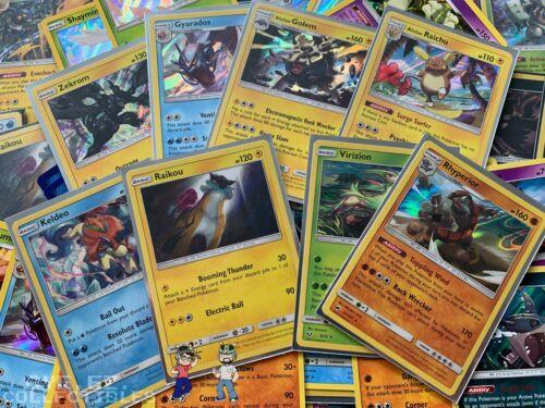 Pokemon Tcg 100 Card Lot Common Uncommon Guaranteed Rare + Holo Cards