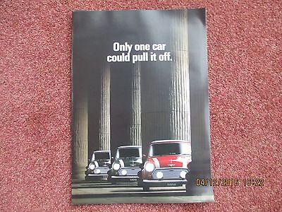 Classic Mini 1.3 Cooper Limited Edition 1990 Foldout Sales Brochure
