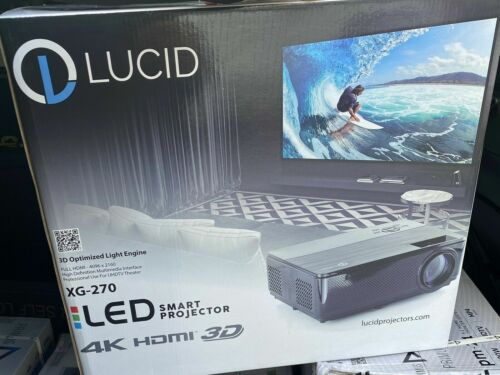LUCID XG 270 4K projector - Brand NEW - Never Used.  With Screen