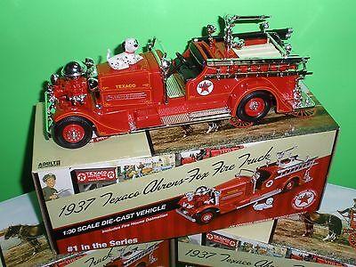 TEXACO #1 FIRE TRUCK SERIES 1937 AHRENS FOX PUMPER NEW MINT IN BOX 1:30th
