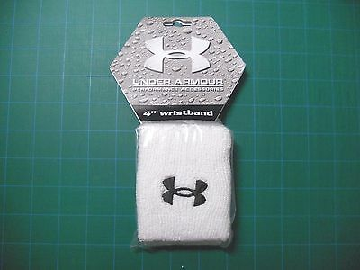 """Under Armour 4"""" white wristband pair (2 included in package) Brand New"""