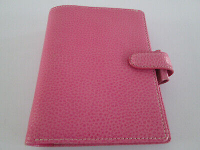 Filofax Organiser Pocket Size Finsbury Pink Grained Leather