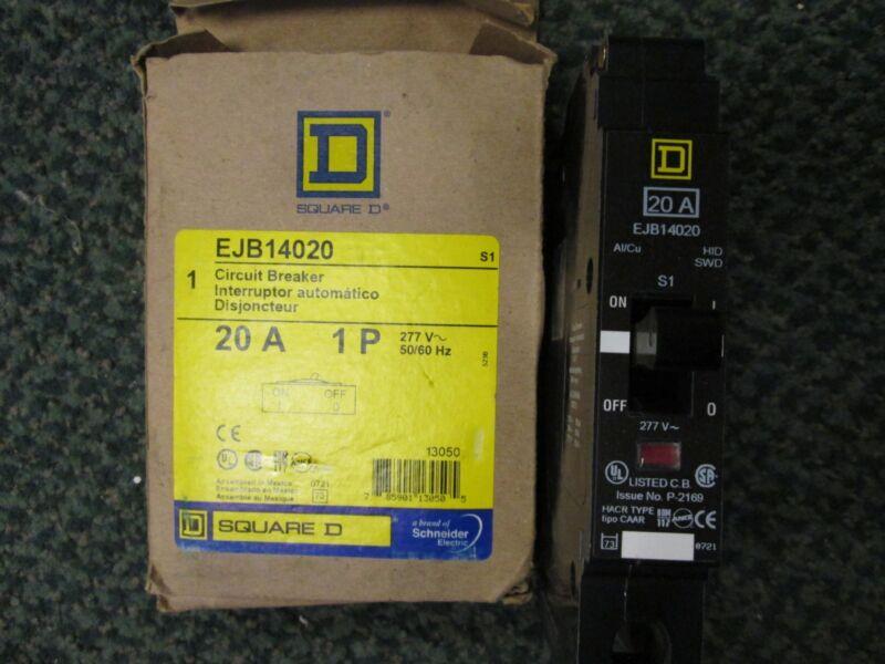 Square D Circuit Breaker Ejb14020 277vac 20a 1p 50/60hz New Surplus