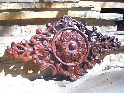 Victorian design Cast Iron Pediment Rust finish 0875