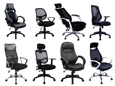 Bürostuhl Chefsessel Auswahl BLACK EDITION Schreibtischstuhl Schwarz Drehstuhl