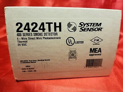 System Sensor 2424th 400 Series Fire Alarm Smoke Detector