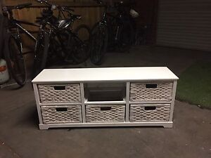 White shabby chic basket drawer unit Hoppers Crossing Wyndham Area Preview