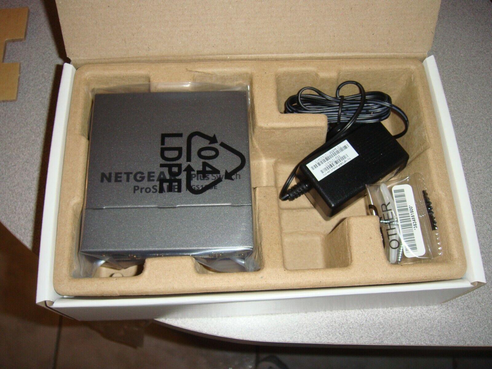 NetGear  ProSafe Plus  5-Ports External Ethernet Switch NEW