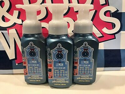 Bath & Body Works Gentle Foaming Hand Soap LEMON BUTTERCREAM Lot of 3 New Lemon Foaming Soap