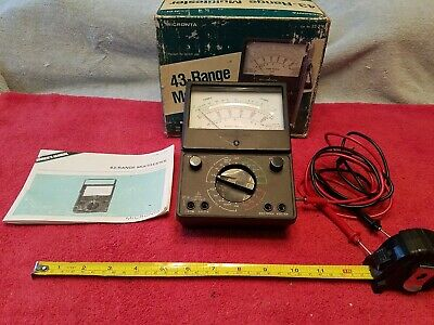 Micronta 43-range Multitester 22-214 With Box And Owners Manual Works