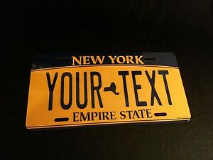 CUSTOMIZE-THIS-NEW-YORK-LICENSE-PLATE-ANY-TEXT-YOU-WANT-novelty-license-plate