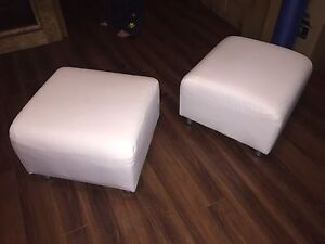 Pair of Klippan Ottoman footrests with washable cover