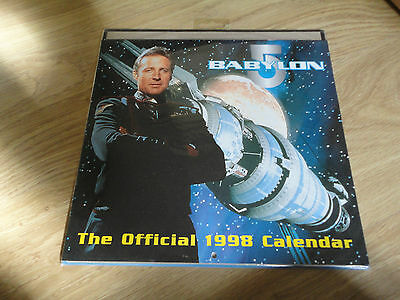 Official BABYLON 5 1998 Calendar - NR Mint Condition