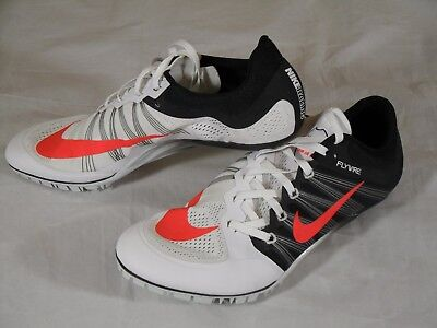 huge selection of 7723a 21e26 New Mens Nike Zoom Ja Fly 2 Sprint Track Spikes Cleats 11.5 White Black  705373