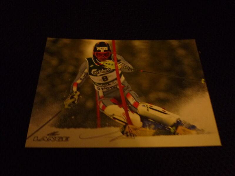 HEINZ SCHILCHEGGER  signed Autogramm  10x15 cm WELTCUPSIEGER 2001 Slalom